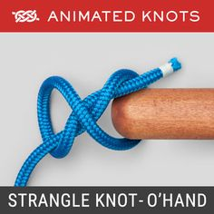 Strangle Knot - Double Overhand Method - Secure the neck of a bag or sack Quick Release Knot, Splicing Rope, Rope Tying, Tying Knots, Rope Knots, Paracord Knots, Animated Knots, Scout Knots, Hook Knot