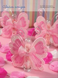 ❤️ Pretty in Pink ❤️ Butterfly Party, Butterfly Birthday, Butterfly Crafts, Wedding Favors, Party Favors, Favours, Crea Fimo, Ideas Para Fiestas, Partys