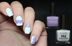 Picture Polish - Wisteria and Sky chevron nail art