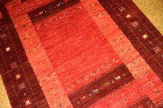 高級ギャッベのソファー前サイズ赤い色926500