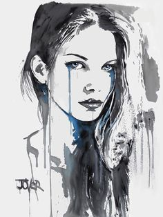 View LOUI JOVER's Artwork on Saatchi Art. Find art for sale at great prices from artists including Paintings, Photography, Sculpture, and Prints by Top Emerging Artists like LOUI JOVER. Watercolor Face, Watercolor Portraits, Summer Painting, Look Girl, Illustration, Human Art, Art Techniques, Female Art, Pop Art
