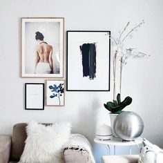 I'm always amazed at how art can instantly make a space feel complete. We haven't even painted this room yet, nor have we purchased any of our longterm furniture, but I couldn't help myself and had to put my @desnio prints up. I feel SO much better already. #typeA #renolife #projectLarkandLinen #desenio #posters