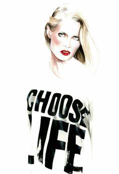 ilustração de moda   Tumblr