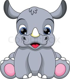 cartoon rhino - Google Search