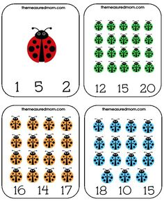 Printable Counting Activity for Preschoolers: Ladybug Count & Clip Cards, super cute math freebie! Counting Activities For Preschoolers, Bug Activities, Preschool Themes, Preschool Kindergarten, Teaching Math, Sudoku, Free Math Worksheets, Early Math, Math Numbers