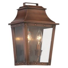 Acclaim Lighting Coventry 2 Light Outdoor Wall Mount Light Fixture - 8423AB