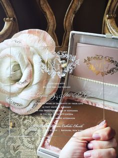 Acrylic invitations