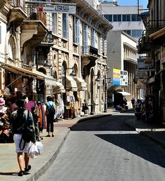 Through the narrow streets of the historic center .. Limassol, Cyprus