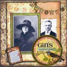 Gin's Engagement Photo - Scrapbook.com - #scrapbooking #layouts #basicgrey