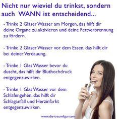 Für ewig schlank: Wasser macht schön, schlank und schwemmt Gifte aus...