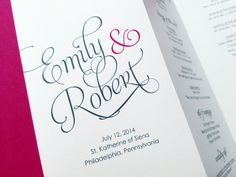 Wedding Programs Trifold Wedding Programs by LittleSparkCreations