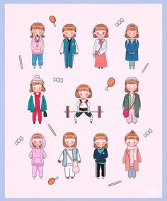 Kdrama, Korean Art, Korean Drama, Weightlifting Kim Bok Joo, Weightlifting Fairy Kim Bok Joo Fanart, Weighlifting Fairy Kim Bok Joo, Chibi, Joon Hyung, Kim Book