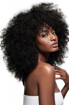 #1Jet Black Kinky Curly Indian Remy Hair Full Lace Wigs[FLW10]-wowafrican.com