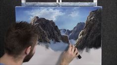 Paint with Kevin Hill - Mountain Pass He has many great videos on youtube channel. #WOoArts
