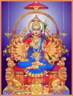 Durga Ji, Saraswati Goddess, Indian Goddess, Mother Goddess, Goddess Lakshmi, Kali Hindu, Hindu Art, Shiva Art, Shiva Shakti