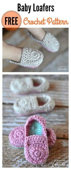 Crochet Baby Booties Crochet Baby Loafers Free Pattern - It's always so much fun to make any baby accessories. This cute Crochet Baby Loafers Free Pattern is super easy and fun to crochet. Crochet Baby Boots, Booties Crochet, Crochet Baby Clothes, Crochet Slippers, Cute Crochet, Crochet For Kids, Baby Booties, Baby Sandals, Crochet Hats