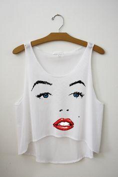 Marilyn Monroe Crop Top by Hipster Tops #marilynmonroe