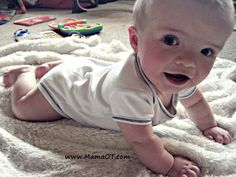 7 tips for tummy time. From www.MamaOT.com