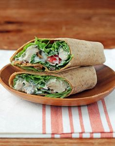 These protein-packed Chicken Caesar Wraps with bacon and Parmesan are full of flavor and under 300 calories. Just 8 Weight Watchers SmartPoints each! www.emilybites.com