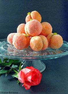 "Печенье ""Персики"" Russian Cakes, Russian Desserts, Russian Recipes, Peach Cookies, Sweet Bakery, Yummy Food, Tasty, Breakfast Dessert, Biscuit Recipe"