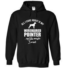 ALL I CARE ABOUT IS MY WIREHAIRED POINTER T Shirt, Hoodie, Sweatshirt