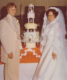 hilarious. I love.They look like my husband and I did on our wedding day- you got to love the 70's!