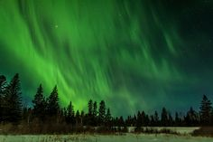 Northern lights at Grayling Lake, Riding Mountain National Park, Manitoba, Canada. Photo by Warren Justice.