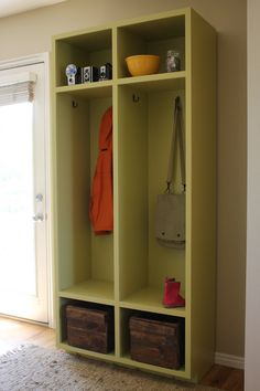 Entryway Storage Lockers  Woodworking Plans  by irontimber on Etsy, $10.00