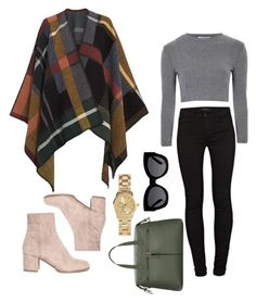 """""""Untitled #26"""" by gomezel on Polyvore featuring Holzweiler, J Brand, Glamorous, Karen Walker and H&M Chicago Fashion, Wool Poncho, Ribbed Top, Street Look, Karen Walker, J Brand, Winter Fashion, Ankle Boots, Glamour"""
