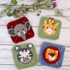 Transcendent Crochet a Solid Granny Square Ideas. Inconceivable Crochet a Solid Granny Square Ideas. Crochet Cat Pattern, Crochet Animal Patterns, Granny Square Crochet Pattern, Crochet Blocks, Crochet Squares, Crochet Animals, Crochet Motif, Diy Crochet, Crochet Crafts
