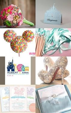 Disney wedding items from Etsy shops