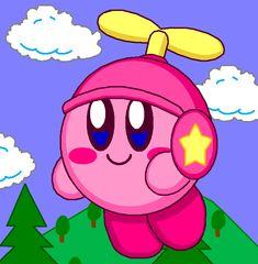 Propeller Kirby by cuddlesnam.deviantart.com on @DeviantArt