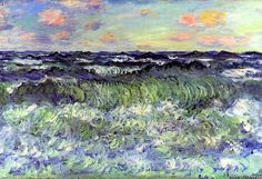 "bofransson: "" Sea Study Claude Monet - 1881 """