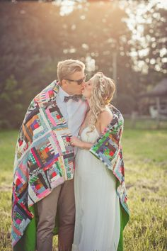 """Have guests send a small scrap of fabric in with their RSVP. If they sign their name to it ahead of time, this can be the """"guest book""""! :)  for those of you who will get married!!! Or a great older person's gift!! I love it"""