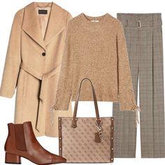 Il marrone e le sue sfumature  outfit donna Basic per ufficio  eb66fea4bc0