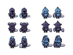 Pixel Knights (Aug 2015) by emimonserrate on DeviantArt