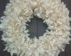 Shabby Chic Wreath, White Wreath