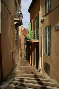 Small Street in Cannes, Provence-Alpes-Cote d'Azur, France