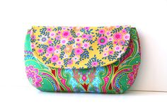crazy love clutch in green with mustard by SassyStitchesbyLori, $32.00