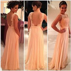 Pink Chiffon Lace Bridesmaid dress Long Bridesmaid Gown 2015 Romantic Princess Ivory Bridal gown Strapless Satin WEDING DRESS Retro Chiffon Wedding dress