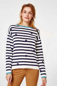 edc - Gestreifter Baumwoll-Sweater