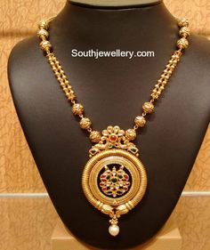 Light Weight Simple Antique Gold Necklace