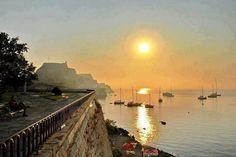 Beautiful sunset over Corfu island!