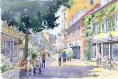 Lange Strasse, Baden-Baden, Germany: Yuriy Shevchuk.