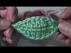 Vídeo aula Folha básica em crochê para aplique - YouTube
