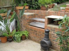 DIY BUILT-IN BRICK STAINLESS BBQ GRILL