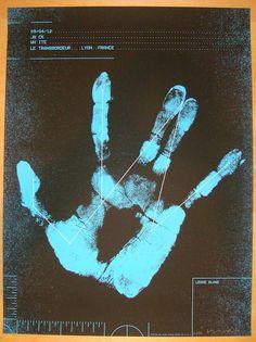 2012 Jack White - Lyon Concert Poster by Alan Hynes