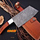 Custom Handmade Damascus cleaver ( chopper) Steel Bolster Rose Wood Ha