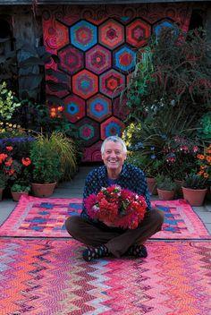 A master of color, Kaffe Fassett video interview. #quilt #knit