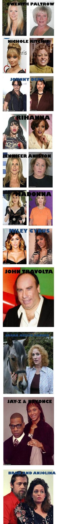 What Celebrities Would Look Like If They Earned an Ordinary Salary----ummm Johnny Depp looks uncannily familial!!!!!